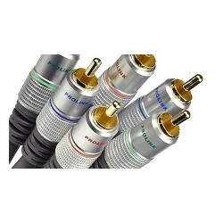Przewód 3xRCA/3xRCA Component Video z serii Prolink Exclusive o długości 1,8m  model TCV 5250.