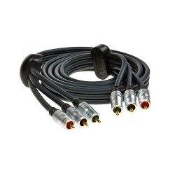 Przewód 3xRCA/3xRCA Component Video firmy Bandridge z serii Profigold o długości 1,5m  model PGV332.
