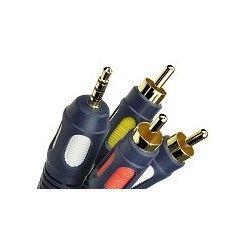 Przewód wtyk 3,5 mm 4P/3xRCA Vitalco Classic o długości 5m.