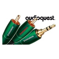 Przewód wtyk 3,5 mm str./2xRCA firmy Audioquest z serii Evergreen o długości 1m.