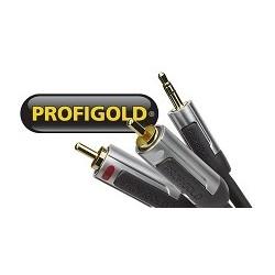 Profigold PROA3401  przewód wtyk 3,5 mm str./2xRCA o długości 1m.