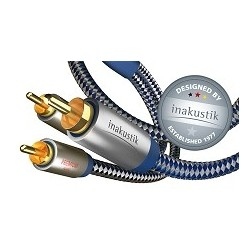 inakustik Premium Sub Y  przewód połączeniowy typu Y do subwooferów: 1xRCA/2xRCA o długości 12m.