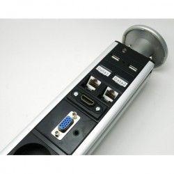 tower 2x230V, 2xRJ45, HDMI, VGA, Jack, 2x USB