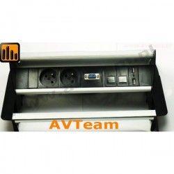 Tablebox 2x230V, 2xRJ45, VGA, 2x USB TBB-1